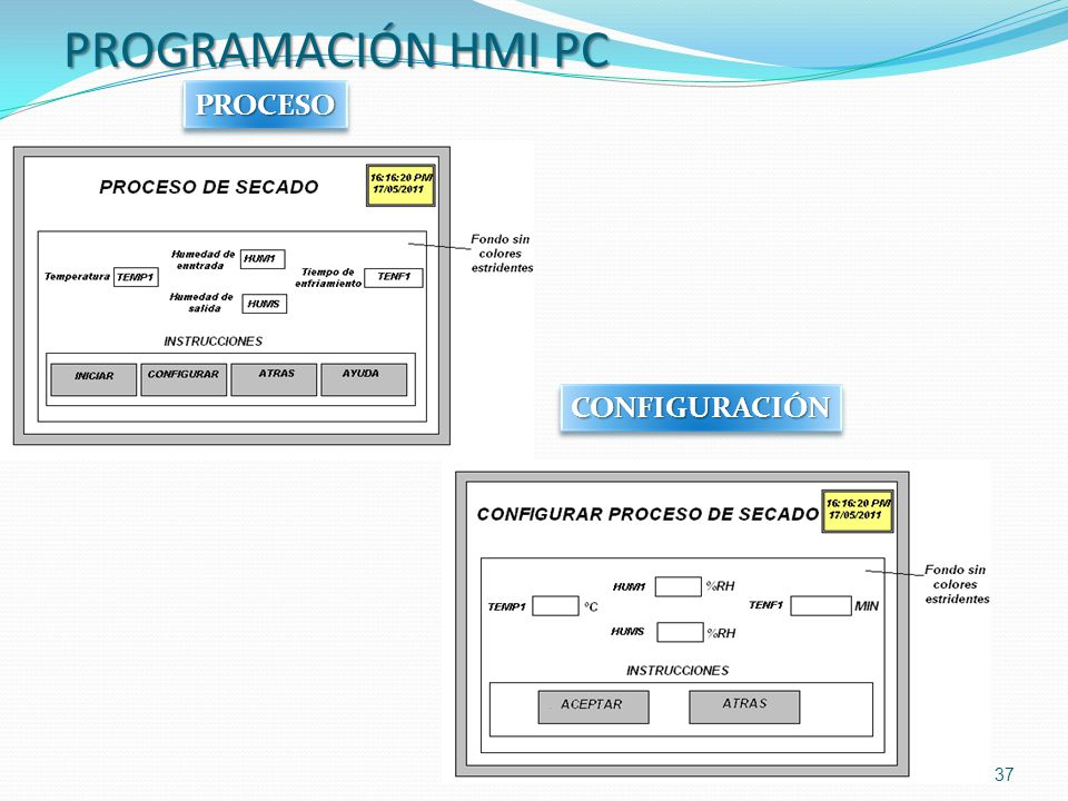 PROGRAMACIÓN HMI PC PROCESO CONFIGURACIÓN