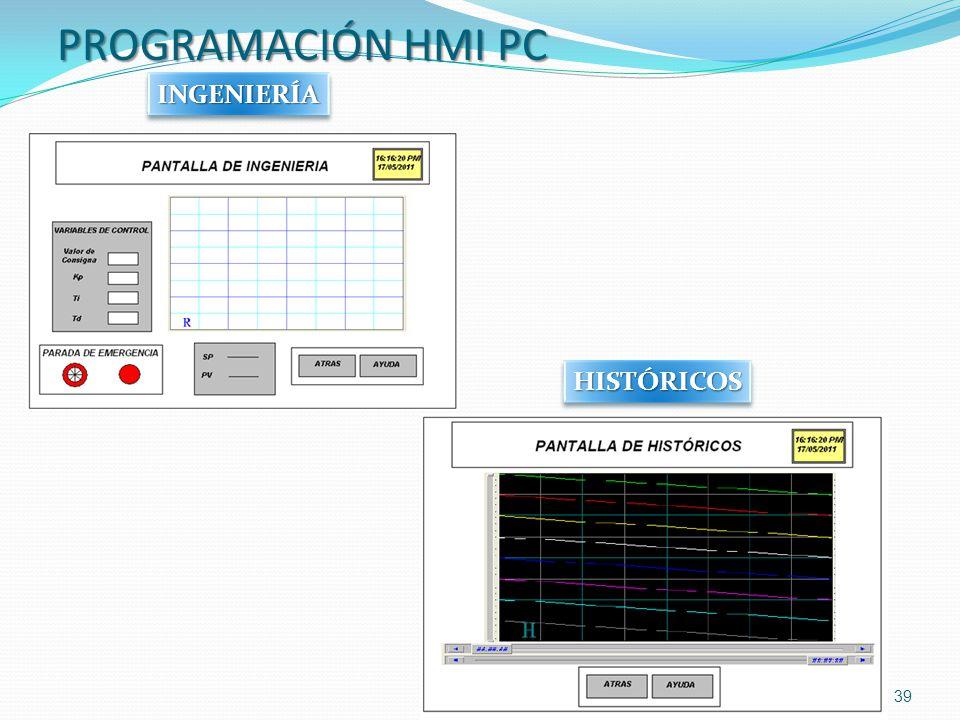 PROGRAMACIÓN HMI PC INGENIERÍA HISTÓRICOS