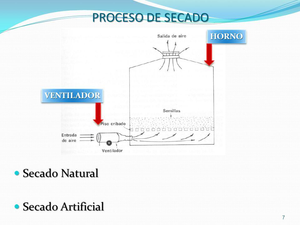 PROCESO DE SECADO HORNO VENTILADOR Secado Natural Secado Artificial