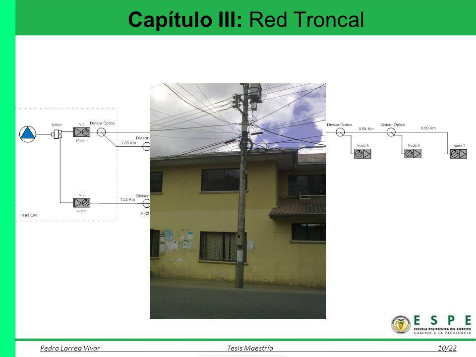 Capítulo III: Red Troncal