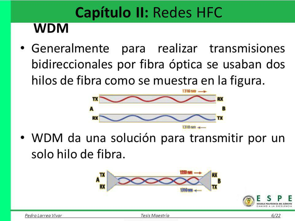 Capítulo II: Redes HFC WDM Cabecera (Head End) Red Troncal