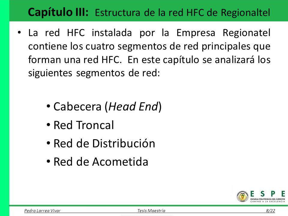 Capítulo III: Estructura de la red HFC de Regionaltel