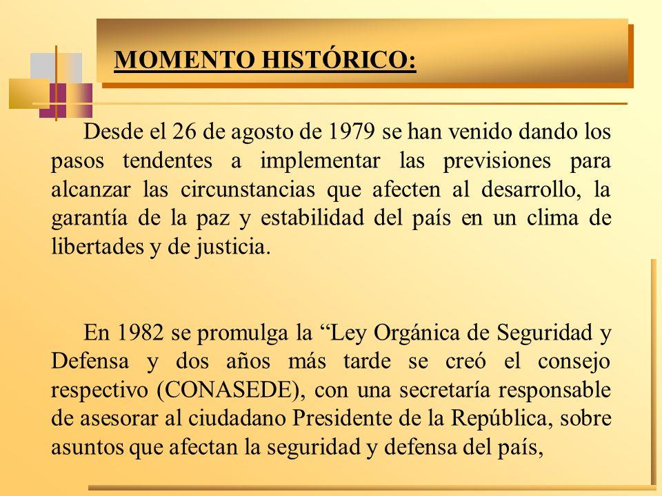 MOMENTO HISTÓRICO:
