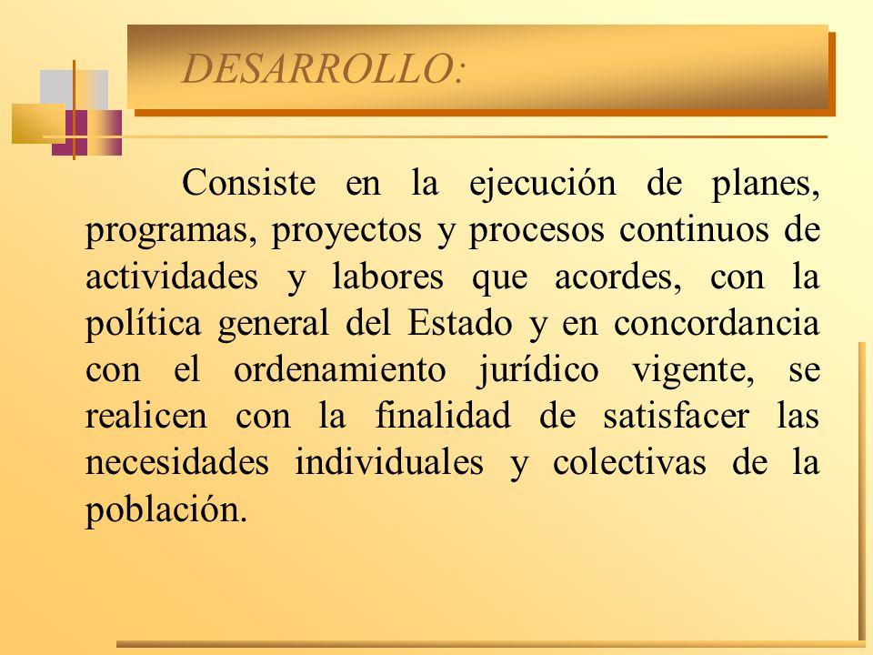 DESARROLLO: