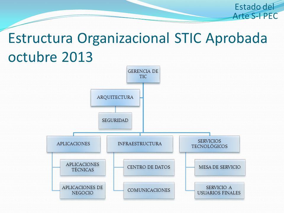 Estructura Organizacional STIC Aprobada octubre 2013