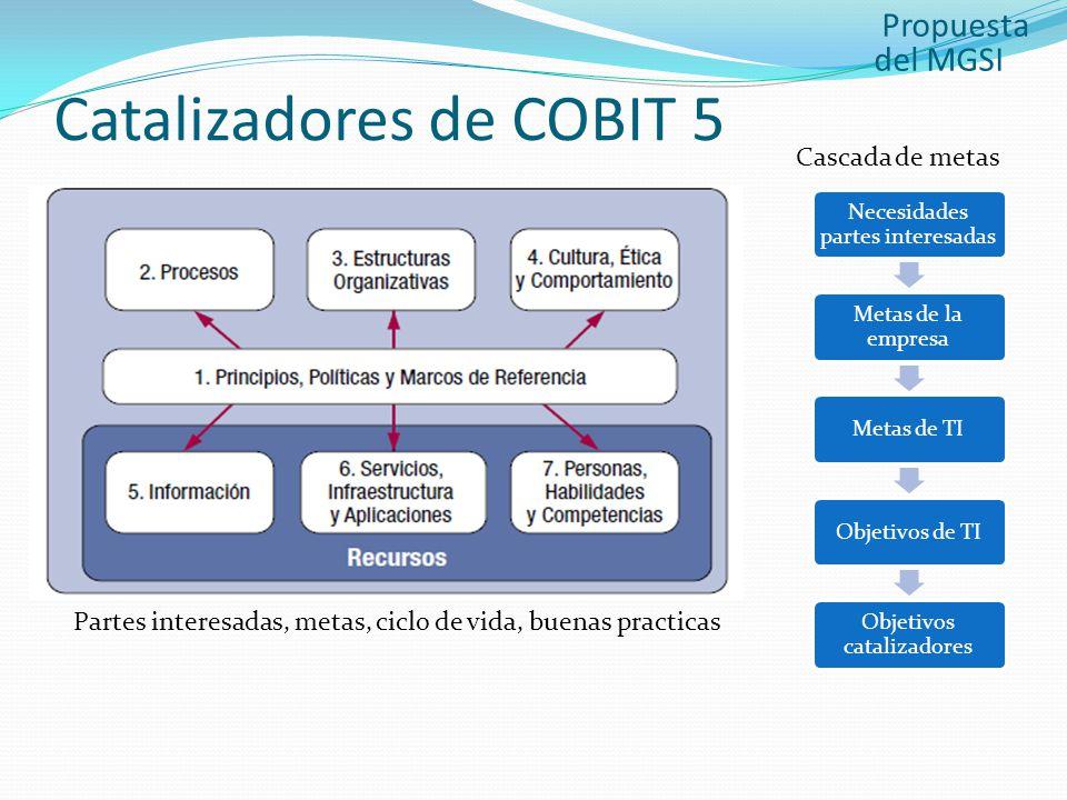 Catalizadores de COBIT 5