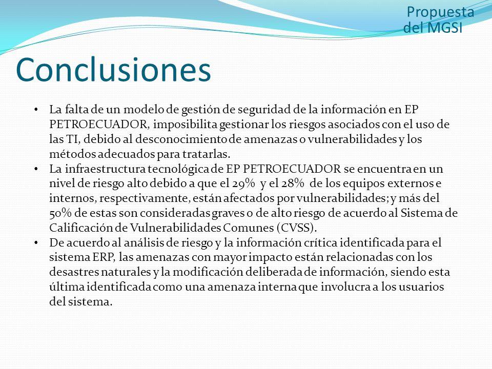 Conclusiones Propuesta del MGSI