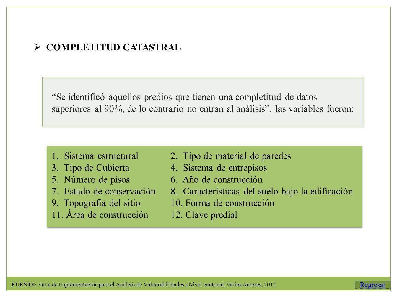 COMPLETITUD CATASTRAL