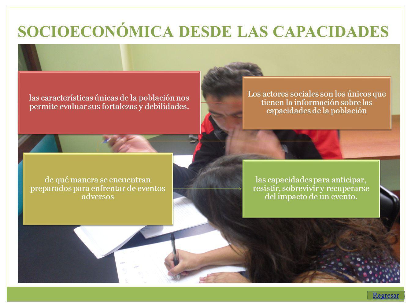 SOCIOECONÓMICA DESDE LAS CAPACIDADES