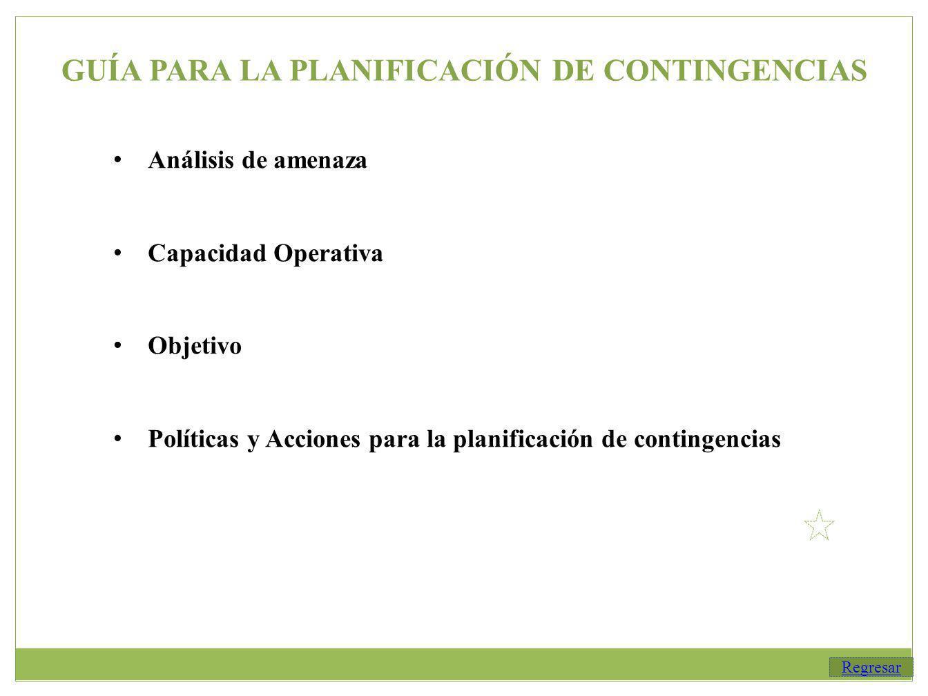 GUÍA PARA LA PLANIFICACIÓN DE CONTINGENCIAS