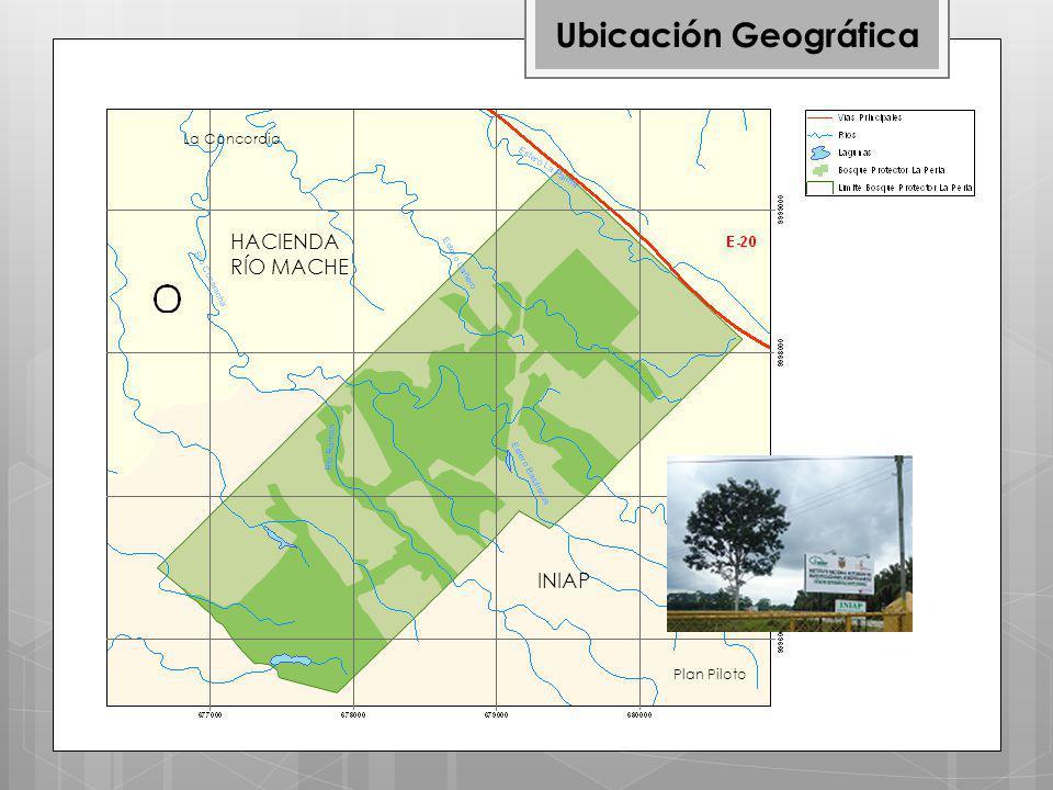 Ubicación Geográfica La Concordia HACIENDA RÍO MACHE INIAP Plan Piloto