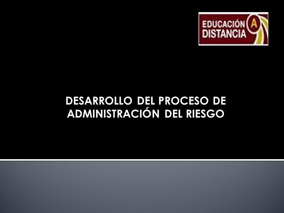 DESARROLLO DEL PROCESO DE ADMINISTRACIÓN DEL RIESGO
