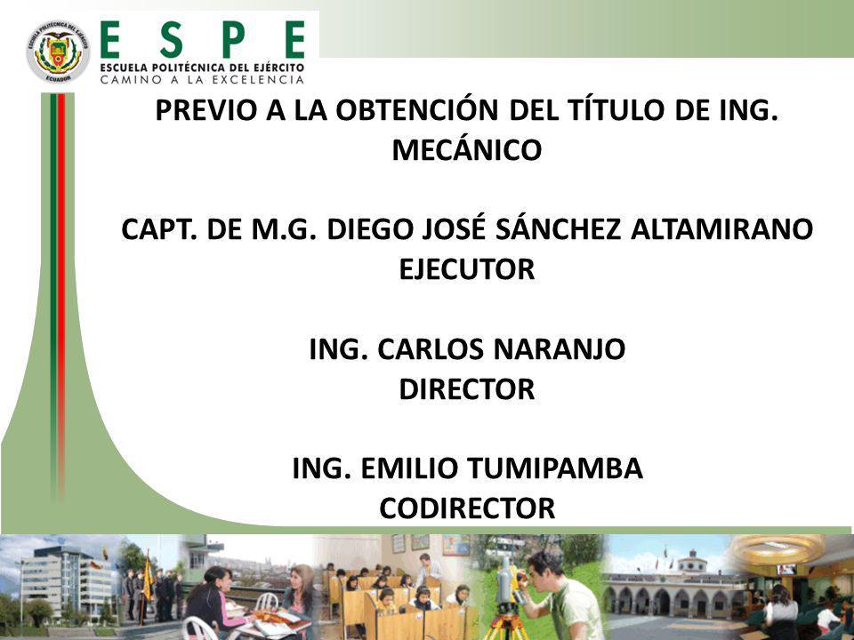 PREVIO A LA OBTENCIÓN DEL TÍTULO DE ING. MECÁNICO CAPT. DE M. G