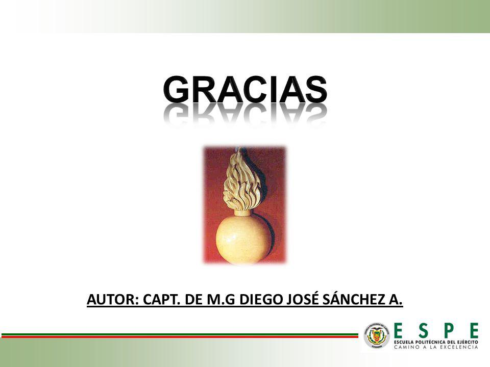 AUTOR: CAPT. DE M.G DIEGO JOSÉ SÁNCHEZ A.