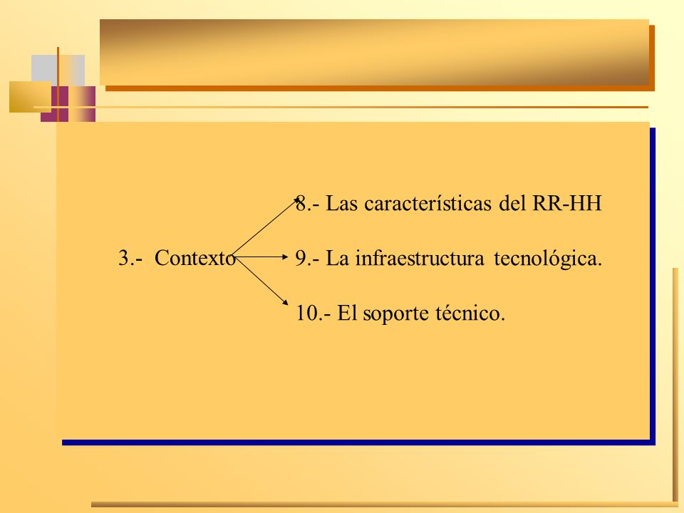 8.- Las características del RR-HH