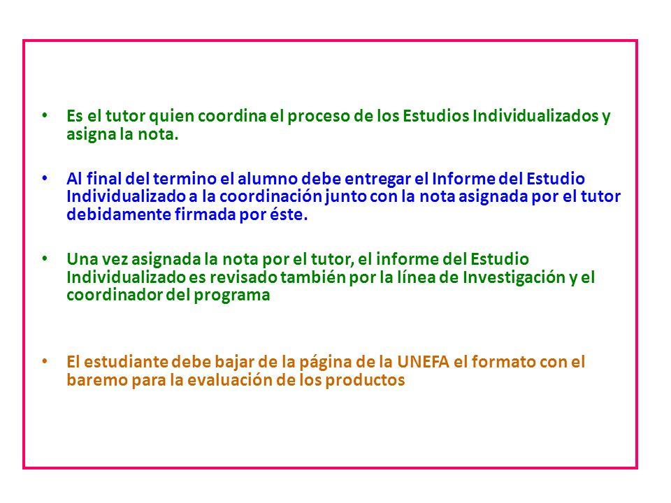 Estudios individualizados