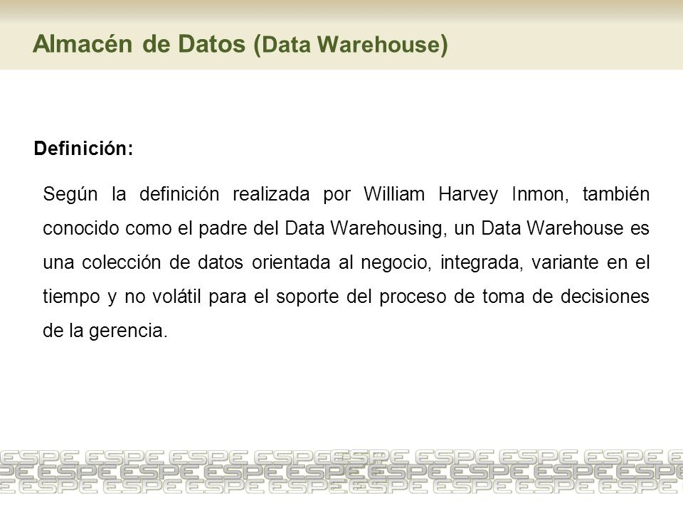 Almacén de Datos (Data Warehouse)