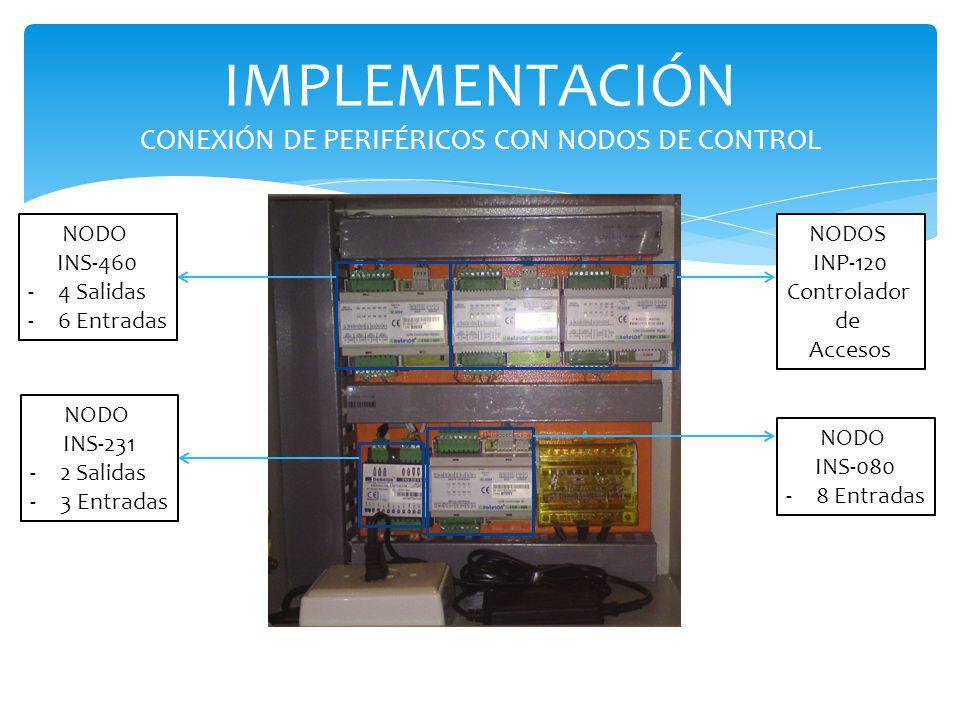 IMPLEMENTACIÓN CONEXIÓN DE PERIFÉRICOS CON NODOS DE CONTROL