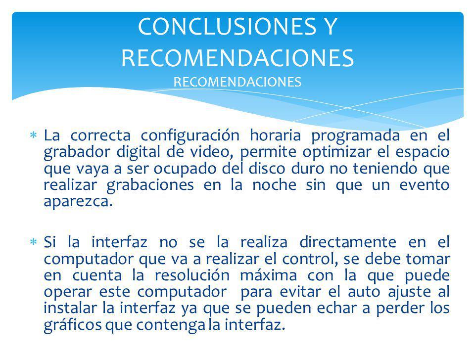 CONCLUSIONES Y RECOMENDACIONES RECOMENDACIONES