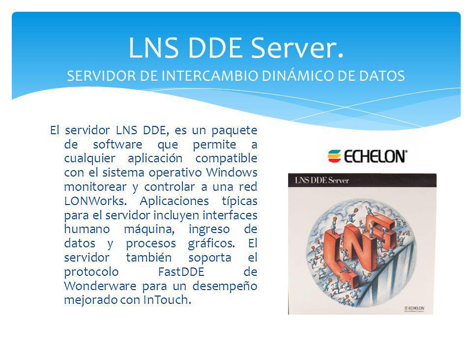 LNS DDE Server. SERVIDOR DE INTERCAMBIO DINÁMICO DE DATOS