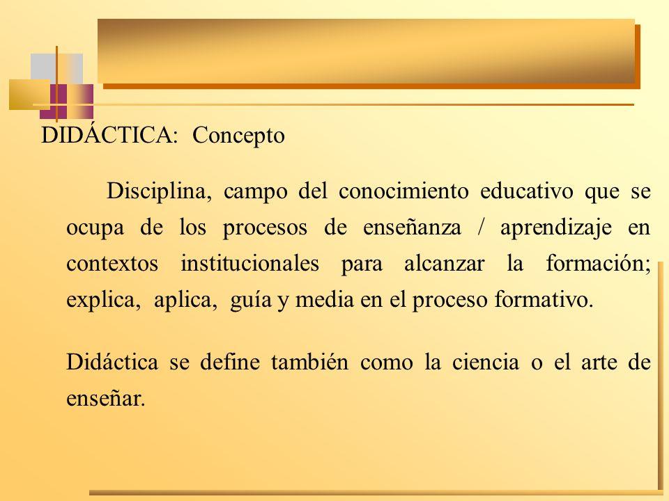 DIDÁCTICA: Concepto