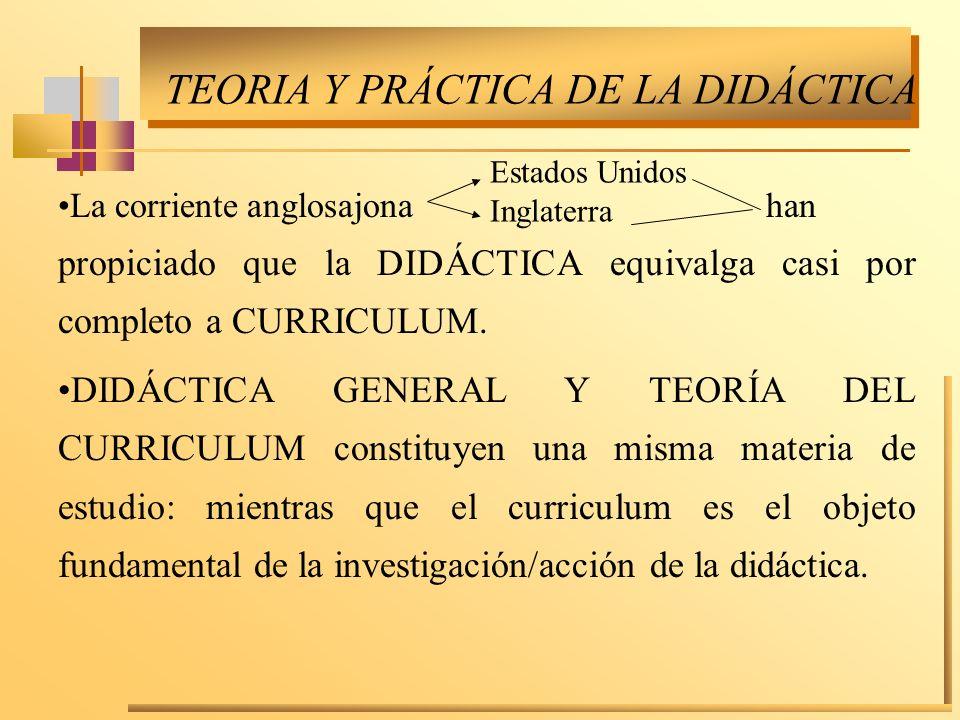 TEORIA Y PRÁCTICA DE LA DIDÁCTICA