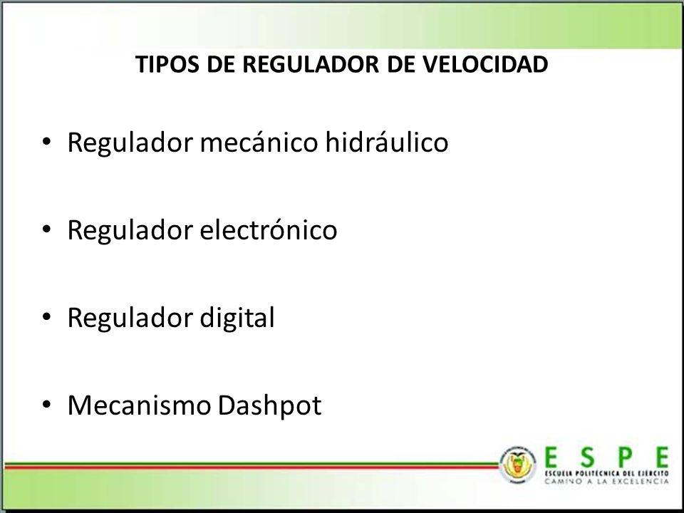 TIPOS DE REGULADOR DE VELOCIDAD
