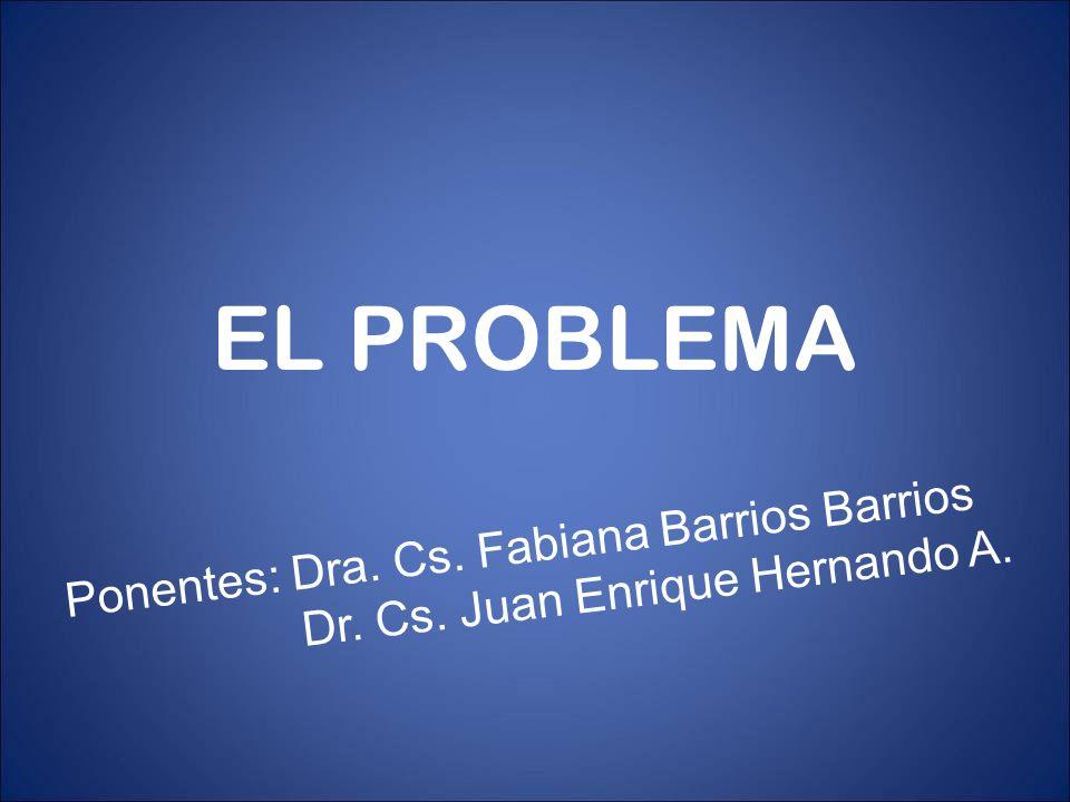 EL PROBLEMA Ponentes: Dra. Cs. Fabiana Barrios Barrios