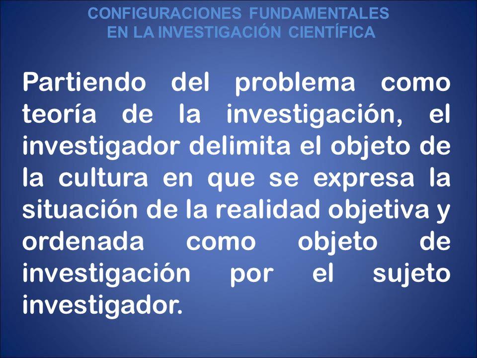 CONFIGURACIONES FUNDAMENTALES EN LA INVESTIGACIÓN CIENTÍFICA