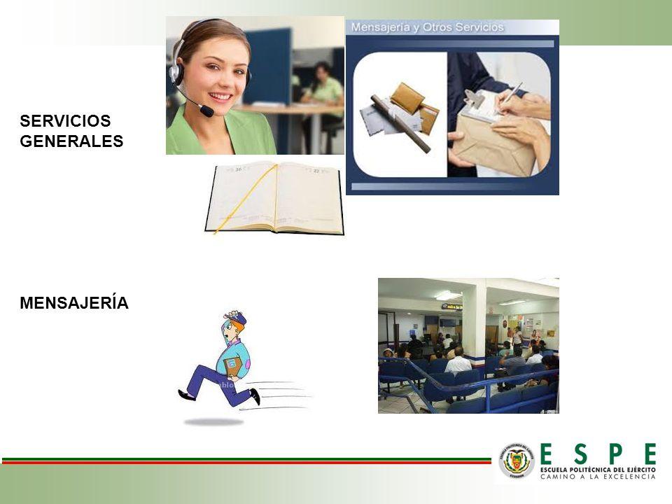 SERVICIOS GENERALES MENSAJERÍA