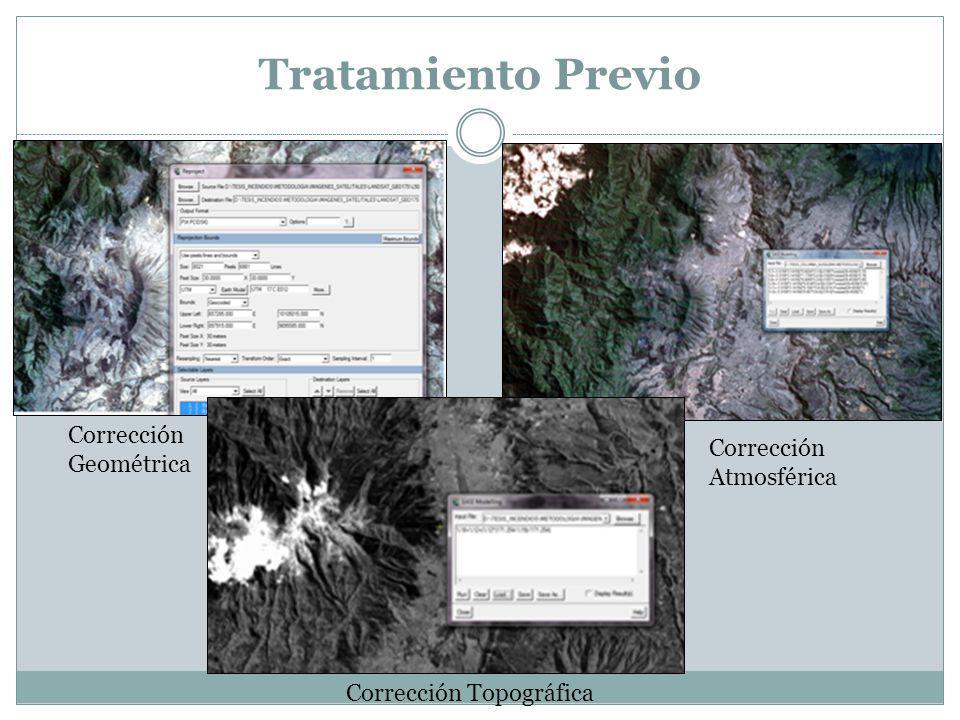 Tratamiento Previo Corrección Geométrica Corrección Atmosférica