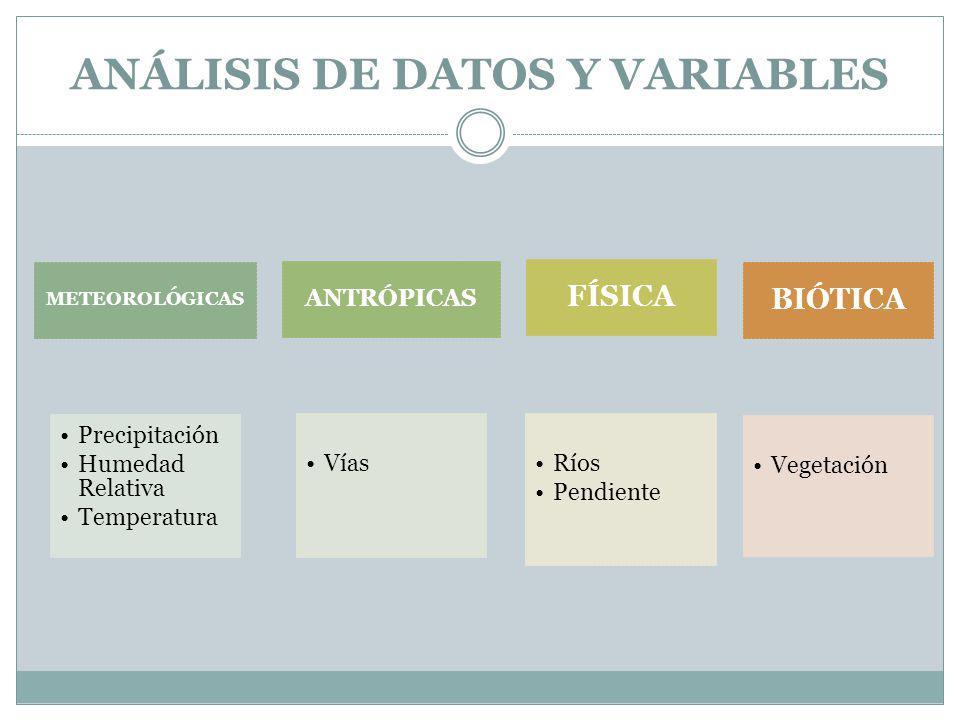 ANÁLISIS DE DATOS Y VARIABLES