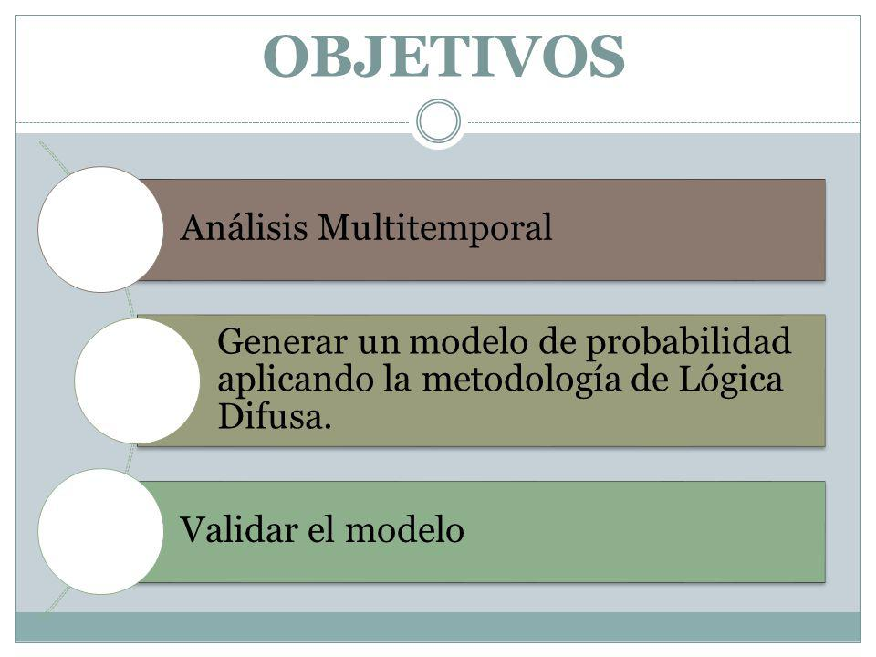 OBJETIVOS Análisis Multitemporal