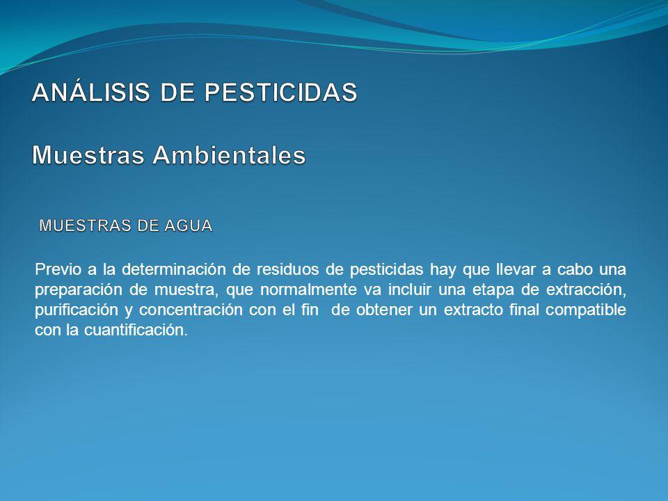 ANÁLISIS DE PESTICIDAS