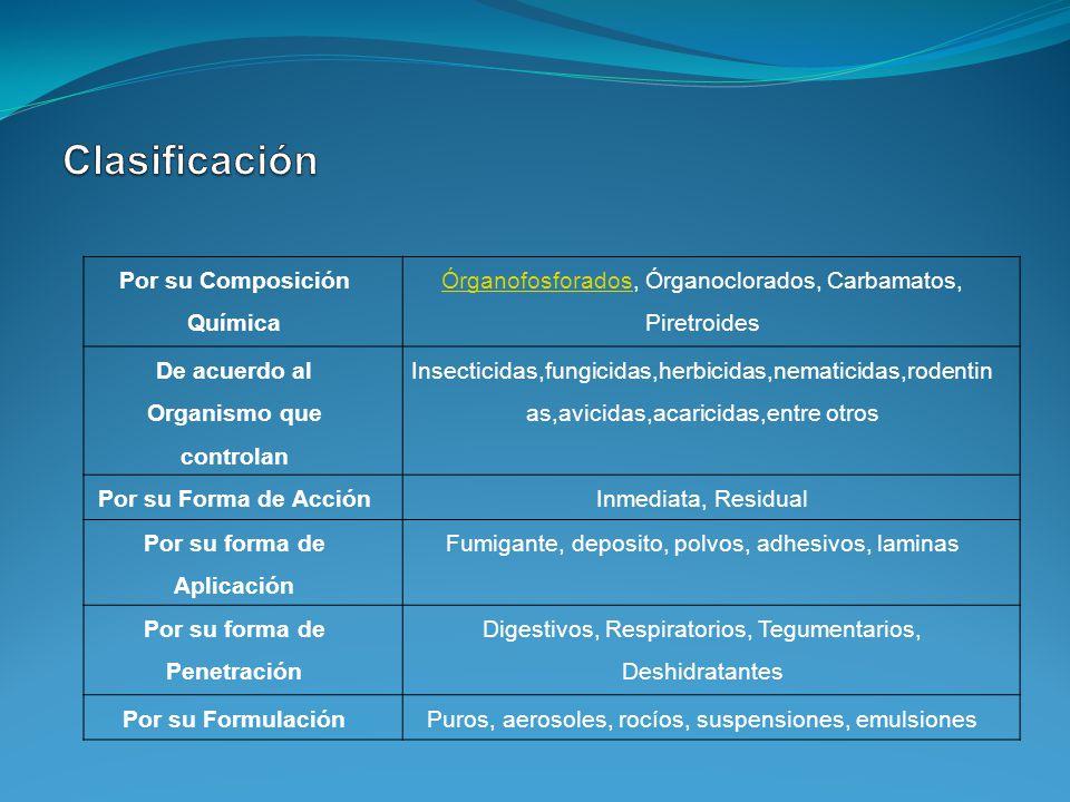 Clasificación Por su Composición Química