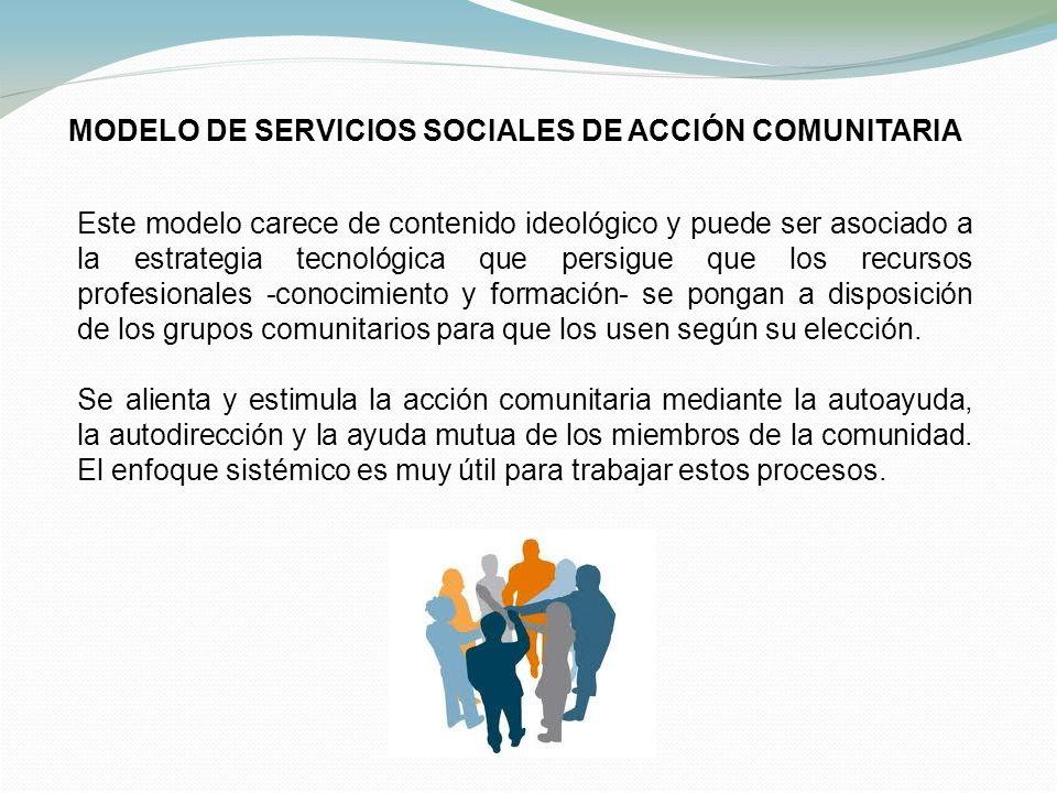 MODELO DE SERVICIOS SOCIALES DE ACCIÓN COMUNITARIA