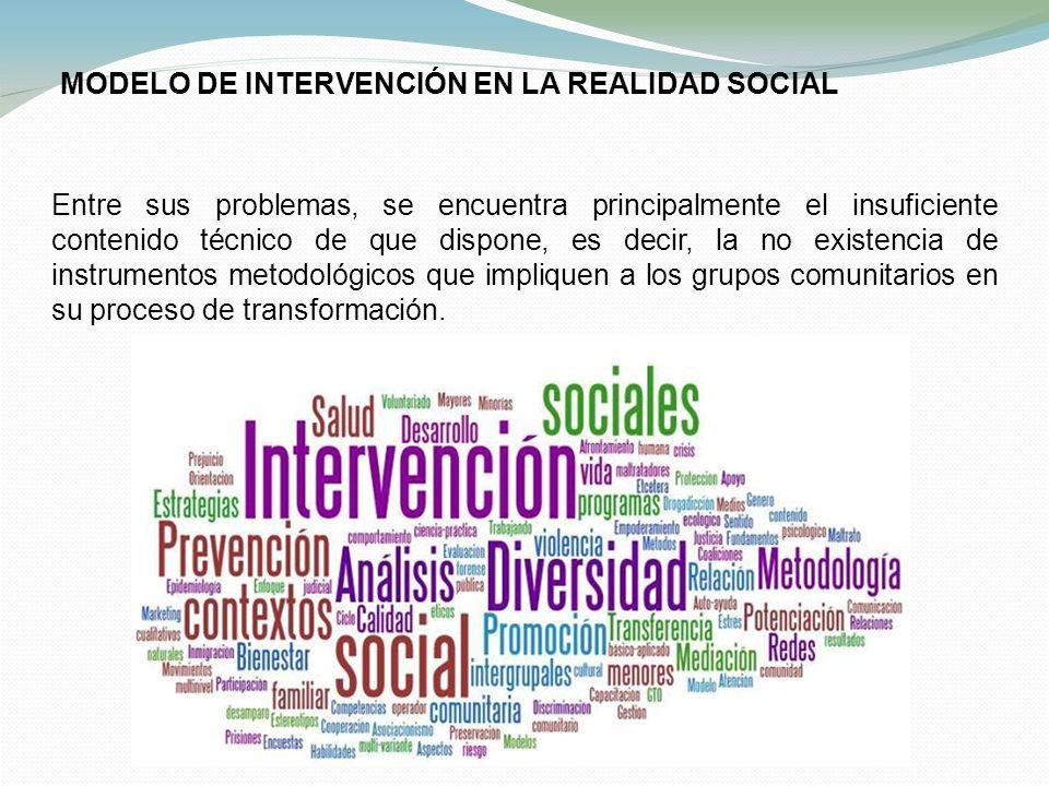 MODELO DE INTERVENCIÓN EN LA REALIDAD SOCIAL