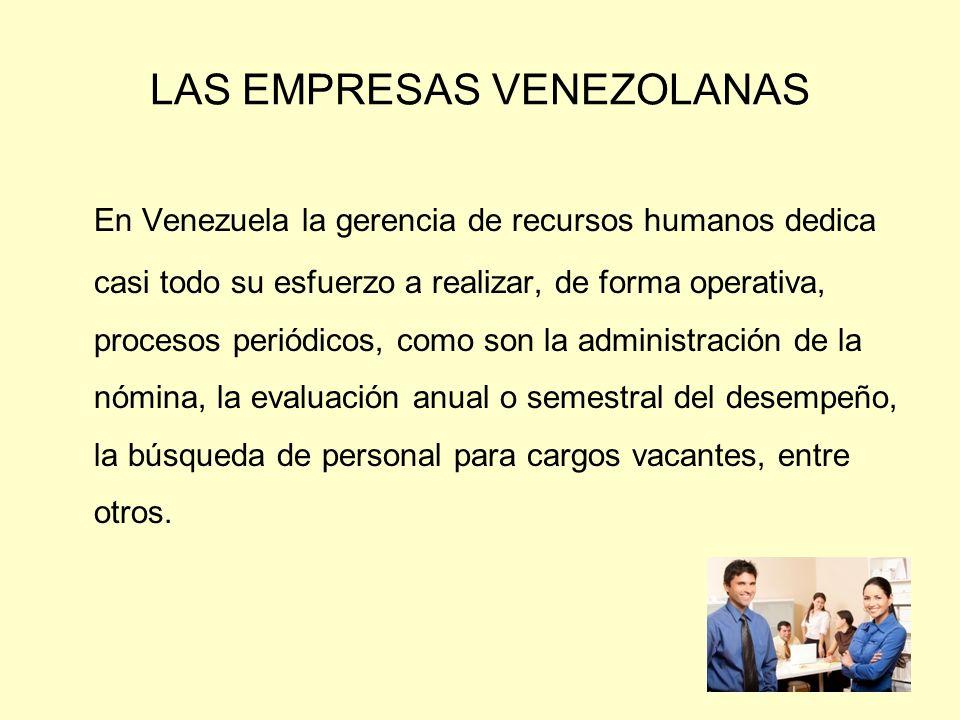 LAS EMPRESAS VENEZOLANAS