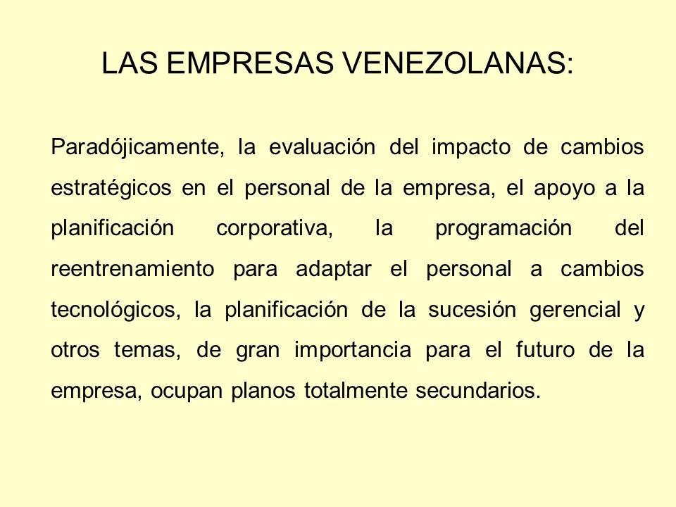 LAS EMPRESAS VENEZOLANAS: