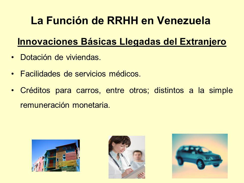La Función de RRHH en Venezuela