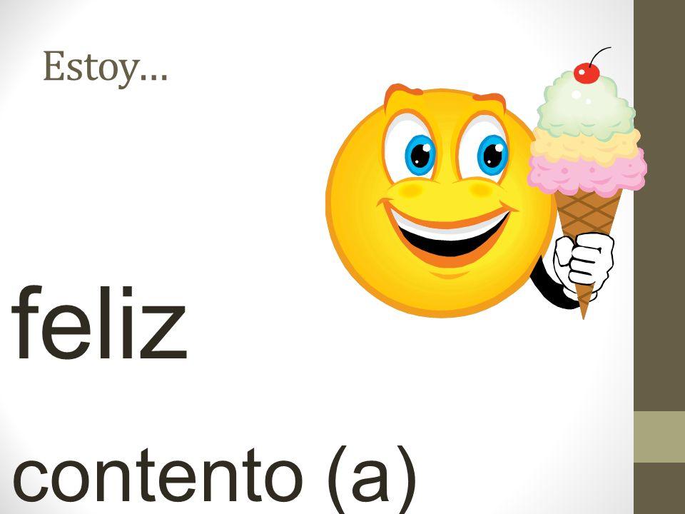 Estoy… feliz contento (a)