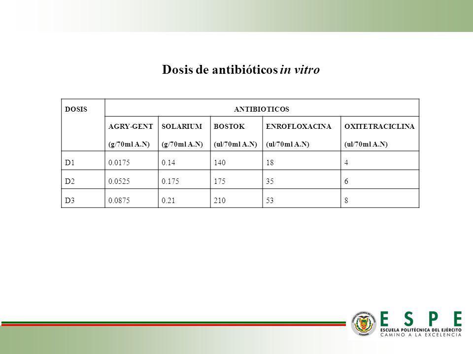 Dosis de antibióticos in vitro