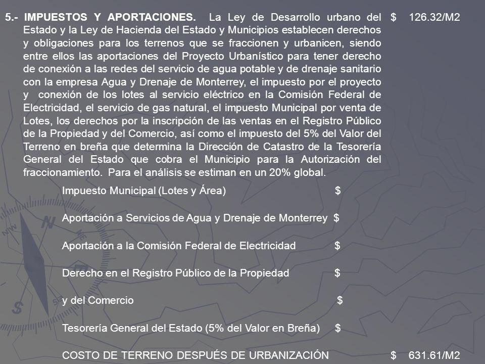 5. - IMPUESTOS Y APORTACIONES
