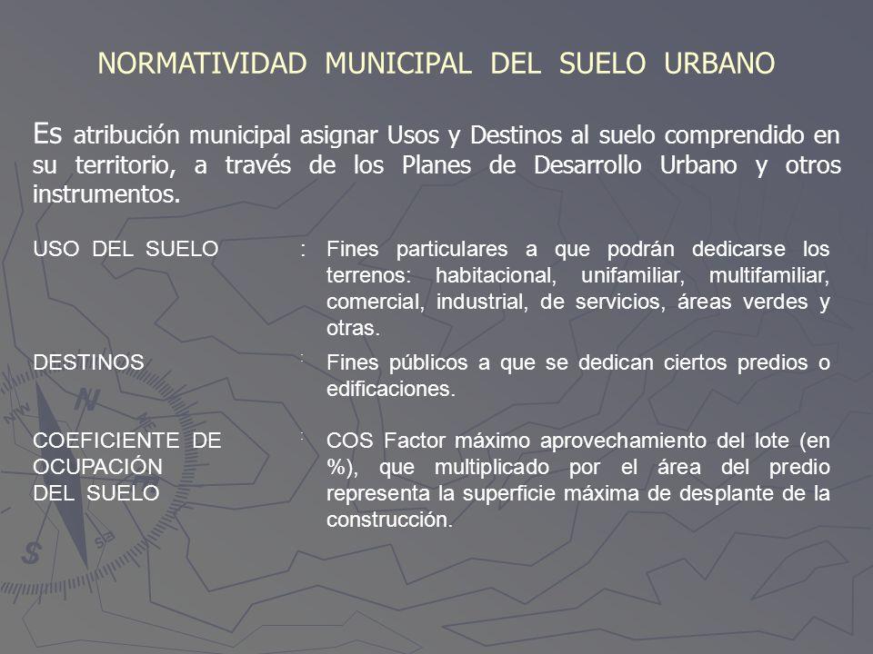 NORMATIVIDAD MUNICIPAL DEL SUELO URBANO
