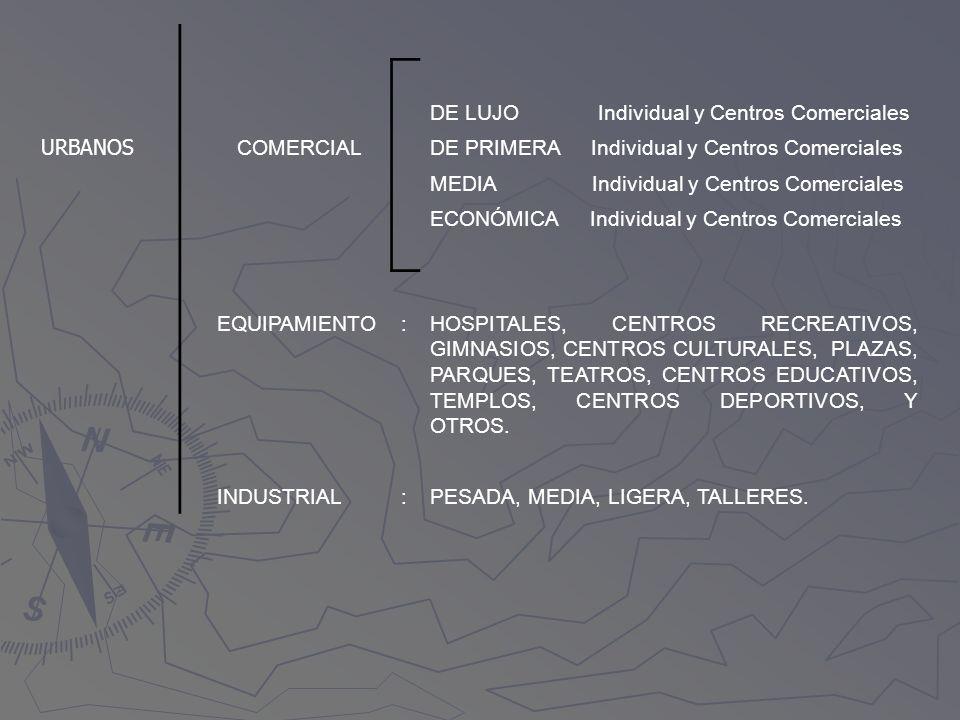 DE LUJO Individual y Centros Comerciales