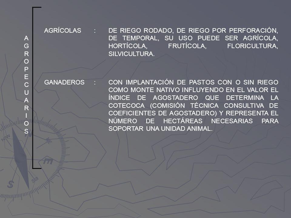 AGROPECUARIOS AGRÍCOLAS. :