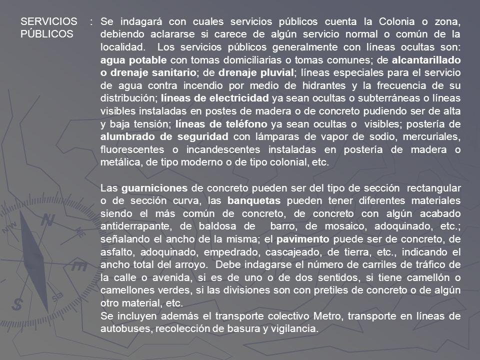 SERVICIOS PÚBLICOS. :