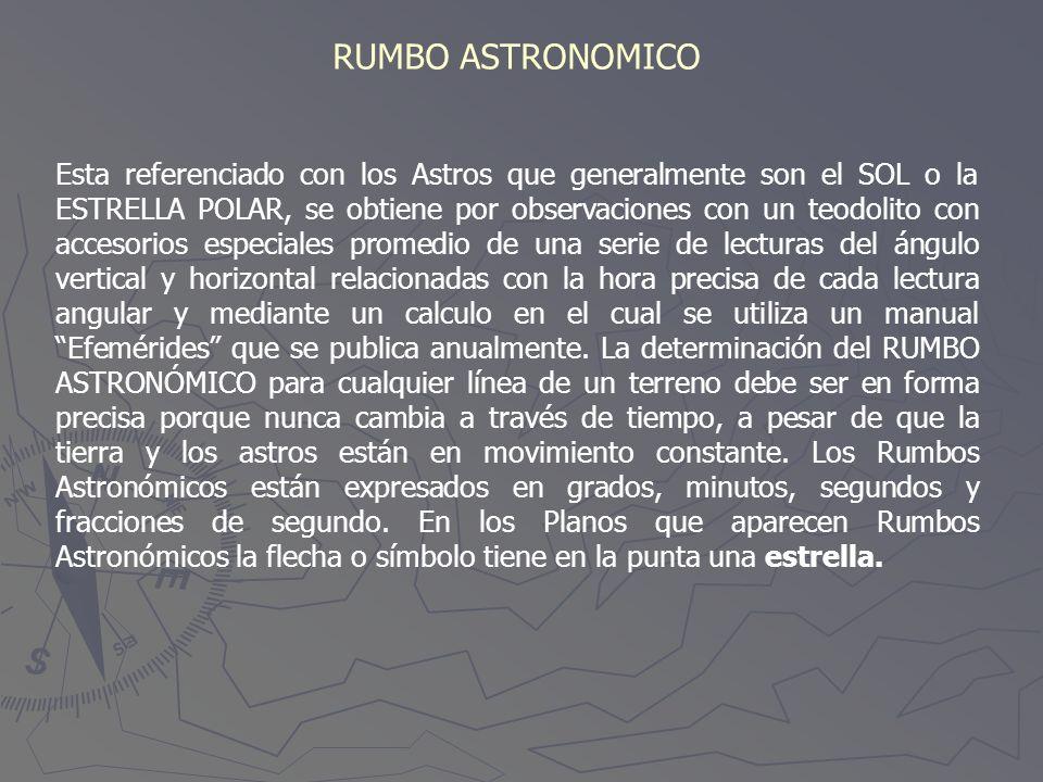 RUMBO ASTRONOMICO