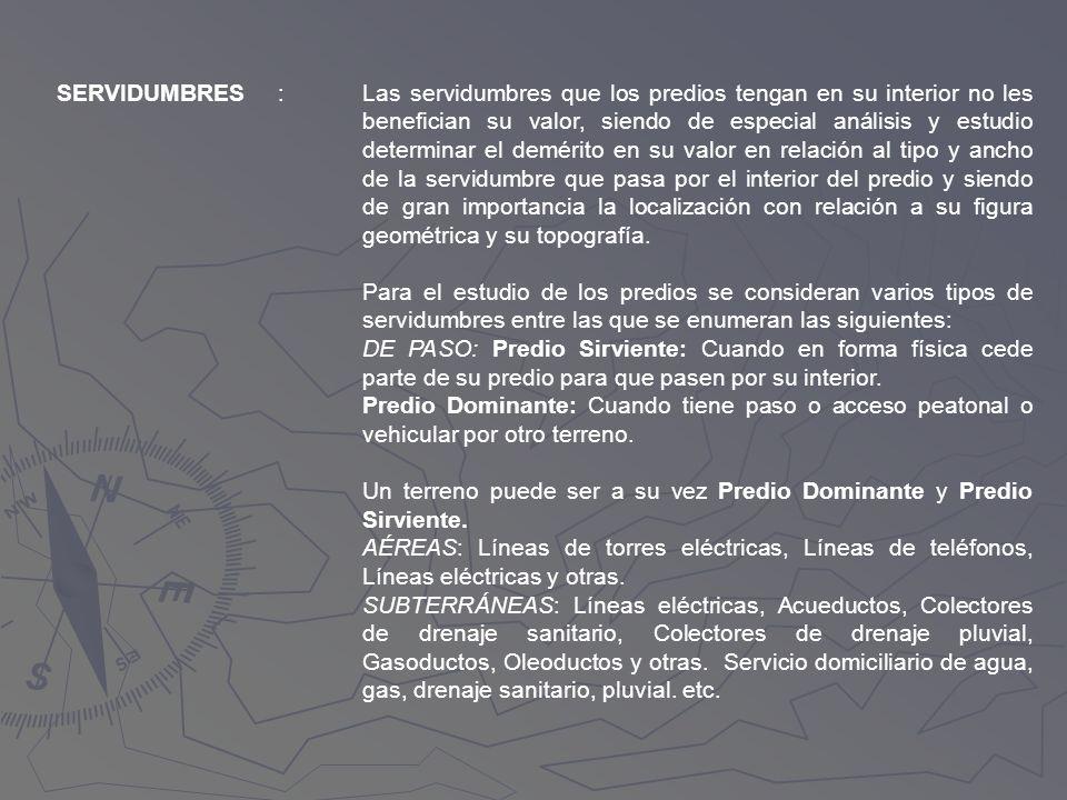 SERVIDUMBRES :