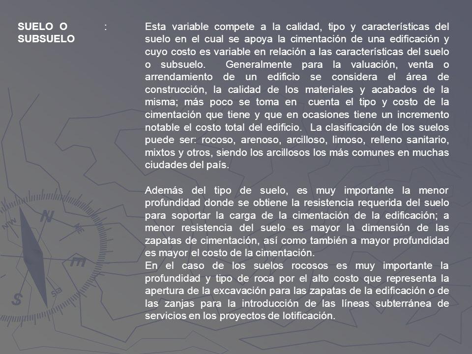 SUELO O SUBSUELO. :